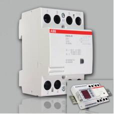 Модульный контактор ABB ESB-40-40 (40А AC1) 220В АС/DC